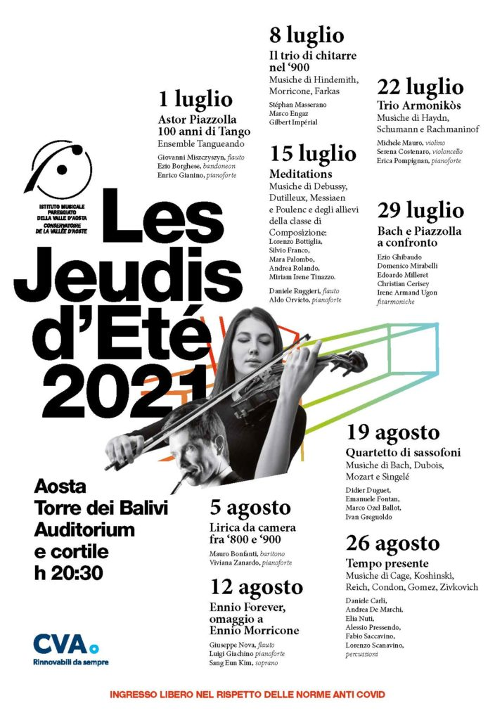 Locandina Les Jeudis du Conservatoire 2021
